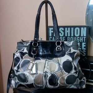 Coach Ashley HD Scarf Print Carryall Shoulder Bag